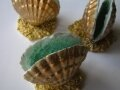 Chocolate seashells with sugar lining
