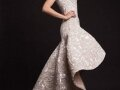 Krikor Jabotian Embellished High Low Wedding Gown