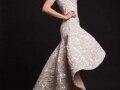 Krikor Jabotian Embellished High Low Wedding Gown