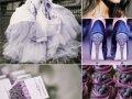 Nježno ljubičasta boja u kombinaciji s drugim bojama, ideje za vjenčanje