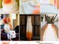 Kombinacija boja: narančasta i boja senfa, ideje