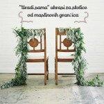 """""""Uradi sama"""" ukrasi za stolice od maslinovih grančica"""