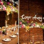 Viseći cvjetni dekor kao glavni aranžman